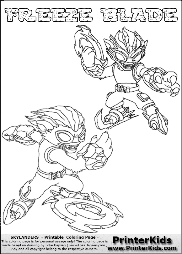 color page online skylanders swap force coloring pages freeze blade