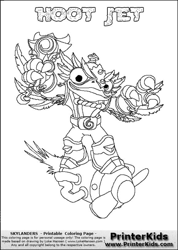 Skylanders Swap Force Scrach - Free Colouring Pages