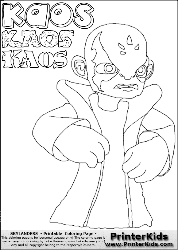 chaos skylanders coloring pages - photo#4