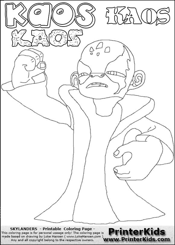 skylanders kaos trap coloring pages - photo#2
