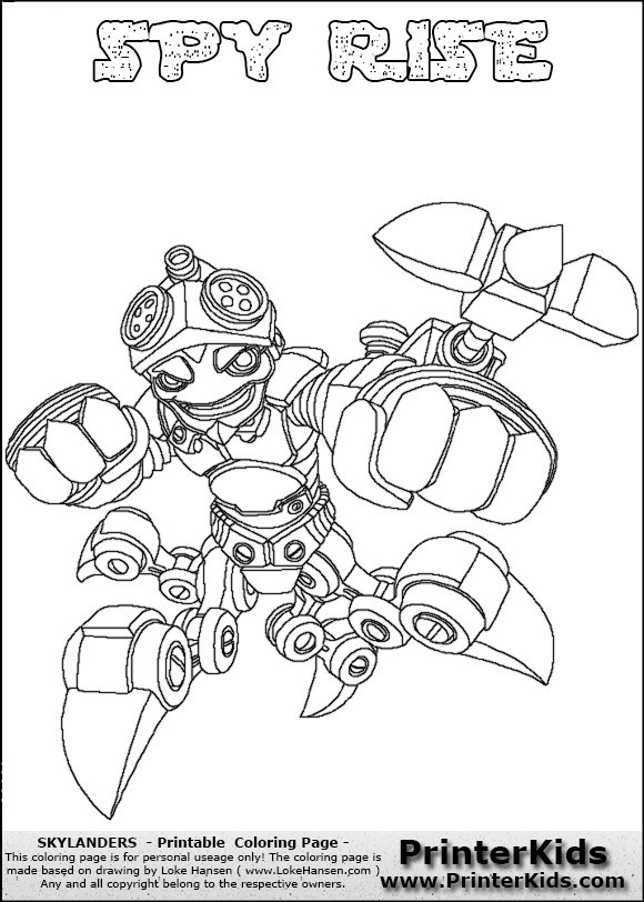 Flameslinger coloring pages ~ Skylanders Swap Force Scrach - Free Colouring Pages