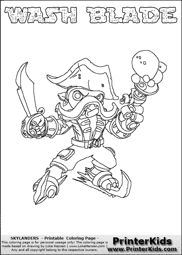 skylanders coloring pages freeze blade - photo#43