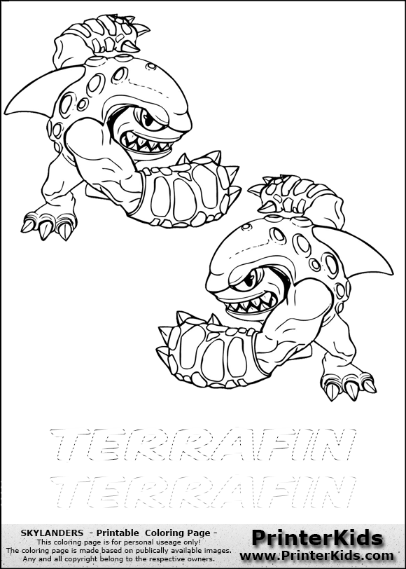 skylanders coloring pages terrafin restaurant - photo#5