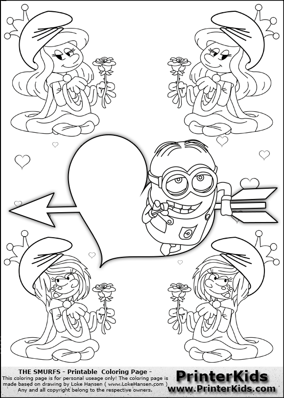 Free Coloring Pages Of Despicable Me Valentine