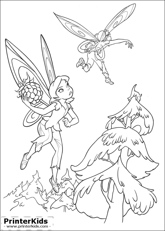 You are here: PrinterKids » Tinkerbell » Printable Coloring Page