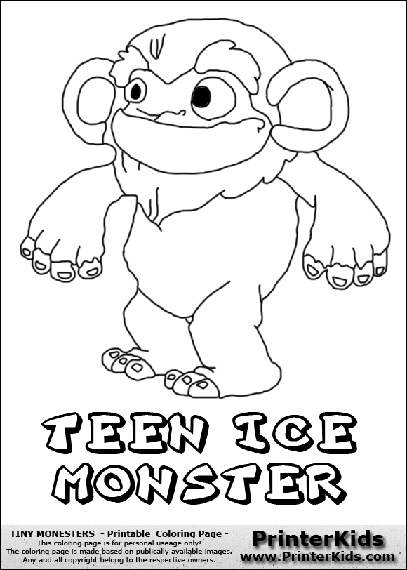 Ice Monster Drawing Ice Monsters Coloring Pages