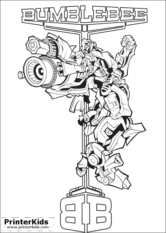 Megatron Blebee Transformer Coloring Page 1000 Images About