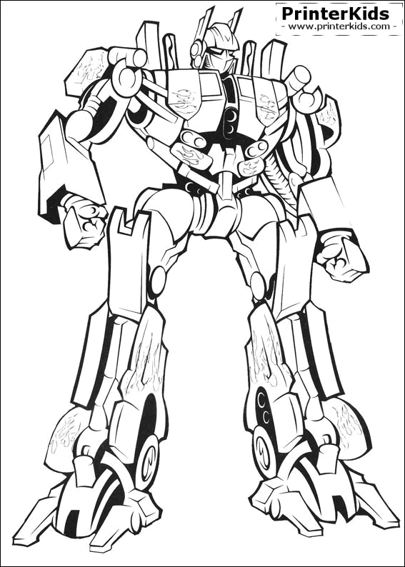 Transformers coloring page Preview
