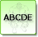 HULK ABCDE Spelling Coloring Pages