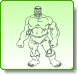 HULK Growling Coloring Pages