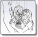 Spiderman Behind Coloring Pages