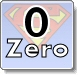 Superman Numbers - Zero -  Coloring Pages