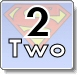 Superman 2 (two) number practice Coloring Pages