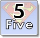 Superman Numbers Coloring Pages - Learn to write 5 (five)