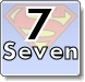 Superman and Numbers Coloring Pages - Learn to write 7 (seven)