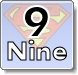 Superman and Numbers Coloring Pages - Learn to write 9 (nine)