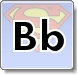 Superman B Letter Coloring Pages