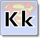 Superman K Letter Coloring Pages