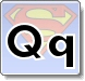Superman Q Letter Coloring Pages