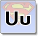 Superman U Letter Coloring Pages