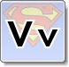 Superman V Letter Coloring Pages