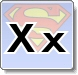 Superman X Letter Coloring Pages