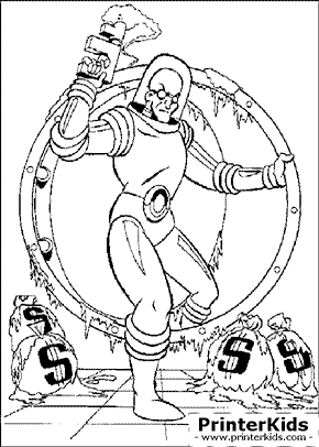 Batman Mr Freeze Coloring Pages Master Coloring Pages
