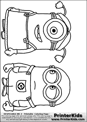Pictures Of Minions To Color