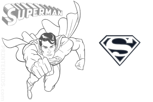 great superman coloring pages print printable coloring pages for kids with superman color pages