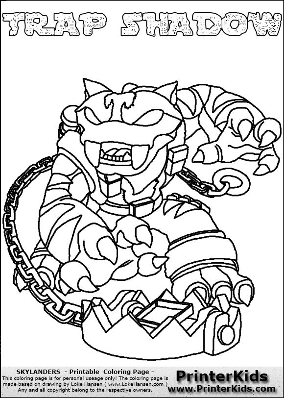 skylanders coloring pages freeze blade - photo#7